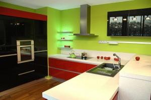 Fresh kitchen design with black details