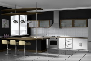 Black & white kitchen remodel