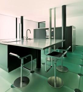 Amazing focal point: modern loft kitchen – Architecture by Angelis Mazza.