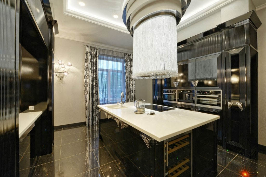 Russian black luxury kitchen