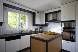 Young and stylish Black & white kitchen