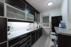 Monochrome style kitchen
